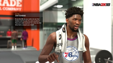The second year star Embiid has an 86 overall. #TTP